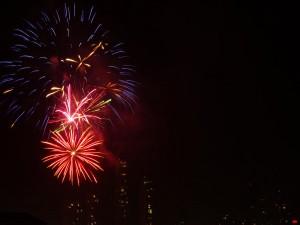 Silvesterfeuerwerk in Panama City