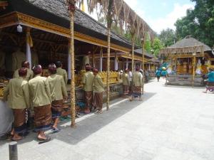 Musiker im Tempel