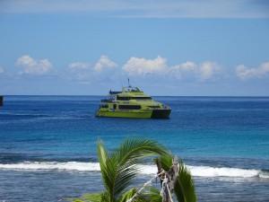 """Die """"Linienfähre"""", die jeden Tag die Yasawa Inseln abklappert und Gäste bringt oder abholt"""