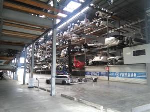 Parkhaus für Boote