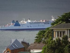 Eine der zwei Fährengesellschaften zwischen Nord- und Südinsel