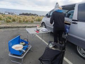 Es war richtig kalt und windig, da ist Speedkochen angesagt bevor man festfriert:-D