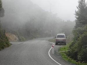 Auf dem Weg zum French Pass wurde es auf einmal seeeeehr neblig