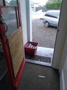 Die Tür nach der Party