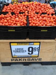 Die Winterpreise für Obst und Gemüse... Zur Erinnerung: die Währung sind Neuseeland-Dollar