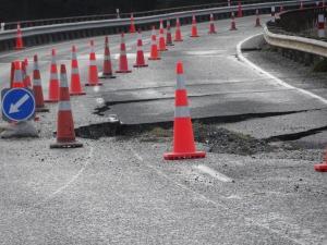 Erdbebenschäden vom Erdbeben im November 2016 in Kaikoura