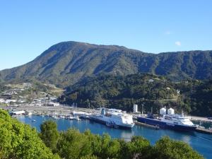 Hafen von Picton mit beiden Fährlinien